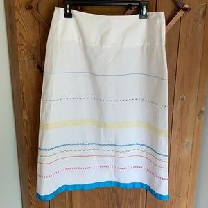 Lyrique by Anthropologie white embroidered skirt